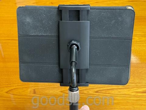 TRYONEタブレット・スマホスタンドでiPadを使う(裏側)