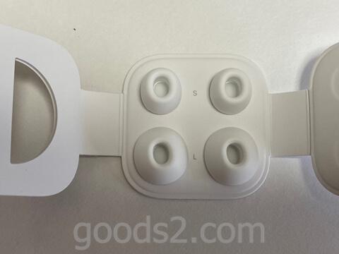 AirPods Pro交換用イヤーチップの箱の中身のアップ