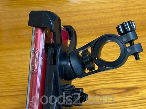 自転車用スマホホルダー角度を変更