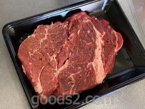 筋切りしたステーキ肉