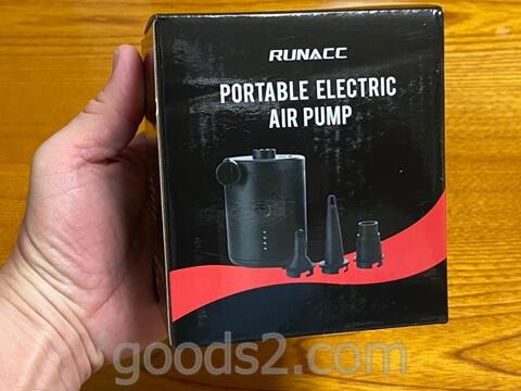RUNACC 電動エアーポンプ外箱正面