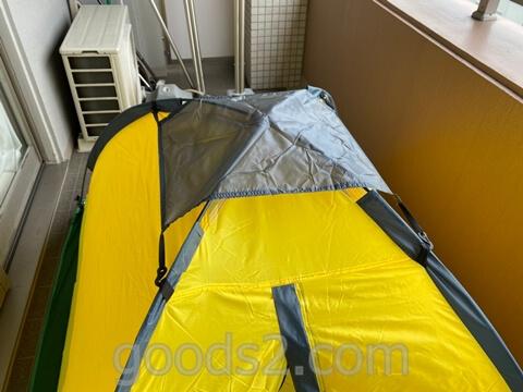 lovingskyのテントのトップシートをつける