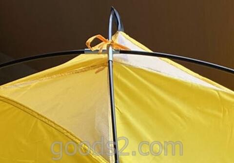 lovingskyのテントの上の部分を縛る