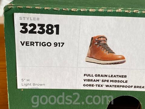ダナー ヴァーティゴ917の型番