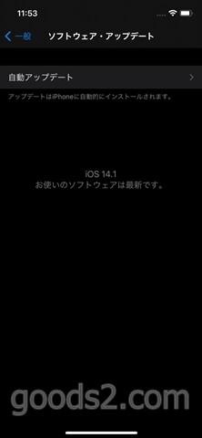 iPhone 12 ProのiOSは14.1