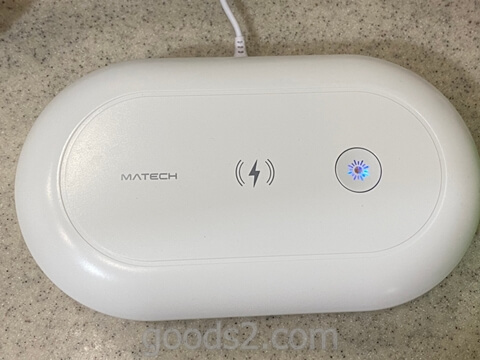 MATECH AirCase UV除菌ケース の30分除菌モード